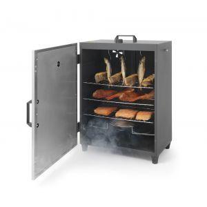 Afumatoare electrica 1600 W cu 3 rafturi si 3 agatatoare pentru carne 540x380(H)720 mm Inox, Hendi