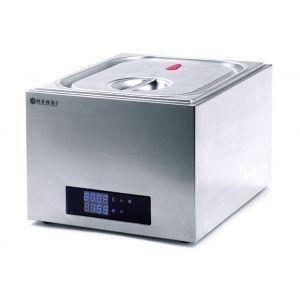 Aparat de gatit Sous-Vide GN 2/3, 400 W, Termostat 35°-90°C, Capac sigilat ermetic, Argintiu, Hendi