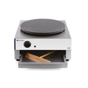 Aparat pentru clatite profesional, plita diam. 40 cm, termostat reglabil 50-300 gr C, 3000 W, corp inox, 450x485x220 mm, Hendi