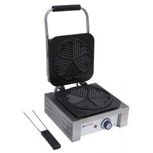 Aparat pentru vafe / waffles, 2200W, cu 5 placi in forma de inima, 32x43.7x(H)25.1 cm, Hendi