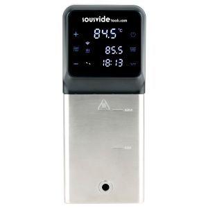 Aparat Sous-Vide iVide Hendi Plus Junior WiFi, 1500 W, capacitate pana la 45L, conectare Wi-Fi la aplicatie Android sau IOS cu 600 retete preincarcate, temperatura de la 5°C la 99°C, display digital,159x121x(H)280mm, Ecran luminos, Negru/Argintiu
