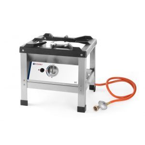 Aragaz portabil pentru exterior, alimentare gaz, 6.4 kW, inox, aprindere electronica, Hendi Kitchen Line, 425x425x(H)400mm