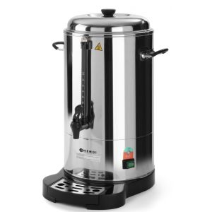Boiler bauturi calde, 1500 W, 10 L, Robinet anti-picurare, Indicator decalcifiere, Argintiu, Hendi