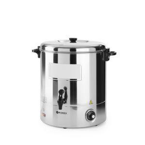 Boiler pentru bauturi calde, 2200 W, 30 L, Temperatura pana la 110°C, Potrivit pentru vin fiert, Argintiu, Hendi
