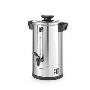 """Boiler pentru bauturi calde cu pereti dubli, 1300 W, 10 L, Temp 30 - 100˚C , Argintiu, sistem inchidere """"Twist-lock"""", Inox, 310x330x(H)490 mm, Hendi"""