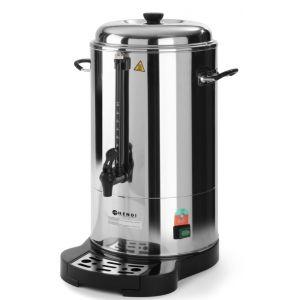 Boiler pentru bauturi calde cu pereti dubli,1500 W, 6 L, Robinet anti-picurare, Indicator decalcifiere, Argintiu, Hendi