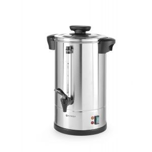 """Boiler pentru bauturi calde cu un singur perete, 1650 W, 12 L, Temp 90˚C C, Argintiu, sistem inchidere """"Twist-lock"""", Inox, 360x380x(H)462 mm, Hendi"""