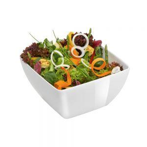 Bol patrat pentru salata 130x130x65 mm, alb, melamina, Hendi