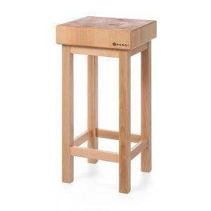 Butuc din lemn pe suport din lemn 400x400x(H)110 mm, Hendi