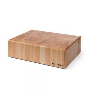 Butuc pentru transare carne, 40x50x(H)15 cm, lemn, Hendi