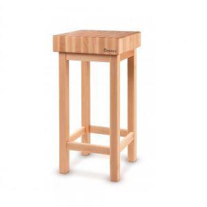 Butuc pentru transat carne / alimente din lemn fag pe suport din lemn, 50x40x(H)15 cm, Hendi