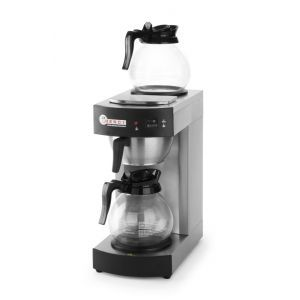 Cafetiera profesionala, cana 1.8 lt, 2100W, 2 plite mentinere la cald, carcasa si suport filtru din inox, Hendi