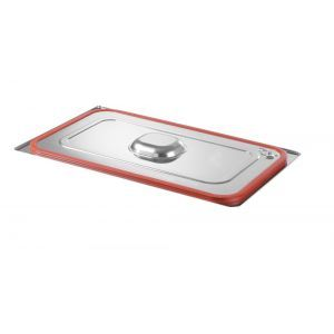 Capac Gastronorm cu banda siliconata GN 1/3 - gama Hendi Profi Line, otel inoxidabil