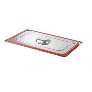 Capac Gastronorm cu banda siliconata GN 2/3 - gama Hendi Profi Line, otel inoxidabil