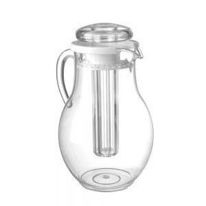 Carafa suc, cu tub gheata pentru racire, plastic transparent rezistent la zgarieturi, 2,2 l, ø15x26 cm, Hendi