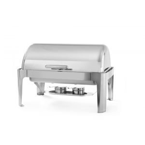 Chafing dish cu capac Rolltop, Gastronorm 1/1, 9lt, inox, 66x49x(H)46 cm, include 2 suporturi pentru combustibil incalzire, Hendi