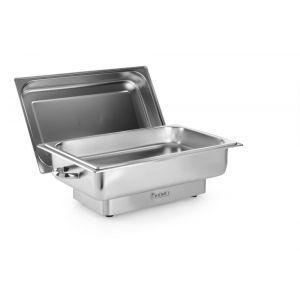 Chafing dish electric GN 1/1, 9lt, inox, termostat 0-100 gr C, 1000W, 615x355x280 mm, Model Pollina, Hendi