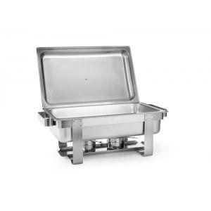 Chafing dish Gastronorm GN1/1, inox, 9 litri, 59x34x(H)35.5 cm, Model RentaL, Hendi