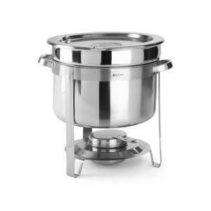 Chafing dish rotund pentru supa, 8 lt, inox, cu capac, 37x(H)32.5 cm, Hendi