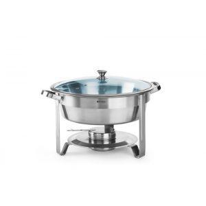 Chafing dish rotund pt servire bufet, inox, 390x(H)270 mm, 3.5 litri, Hendi