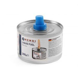 Combustibil lichid cu fitil pentru chafing dish - set 6 cutii de 200 gr - timp ardere 6 ore, Hendi