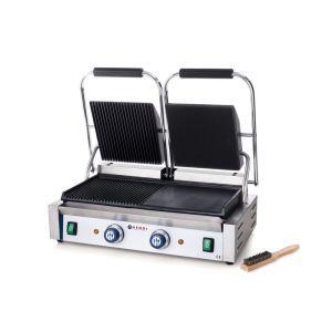 Contact grill - versiune dubla - stanga - neted si dreapta - striat, electric, Hendi