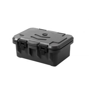 Container izolat catering GN 1/1, incarcare frontala, marime interioara GN 1/1 - H 15 cm, Amerbox, dimensiuni exterioare 630x440x(H)260 mm, Hendi