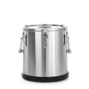 Container termoizolant pt trransport alimente, 35 litri, inox, capac dublu, ø330x(H)570 mm, Hendi