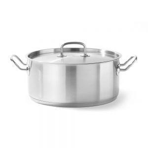 Cratita cu capac, 160x(H)75 mm, 1,5 Lit, inox, gama Hendi Kitchen Line