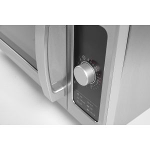 Cuptor microunde profesional, 25 lt, inox, control cu un singur buton, putere iesire 1000W, 511x432x(H)311 mm, Hendi