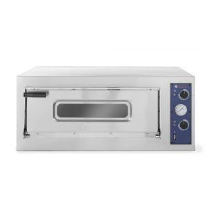 Cuptor pizza profesional Basic 4 Inox 1 camera 4700 W interval temperatura 50°C - 500°C 660x660x(H)140 mm, Hendi