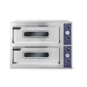 Cuptor pizza profesional Basic 66 4 Inox 2 camere 14400 W interval temperatura 50°C - 500°C 2x660x990x(H140 mm, Hendi