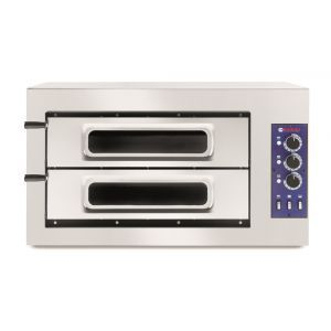 Cuptor pizza profesional clasic 2 camere, 2/50 vetro, termostat 50-500 gr C, 7500W, Hendi