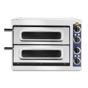 Cuptor profesional pizza 2/40 Vetro 2400 W cu 2 camere, Inox 567x427,5x(H)428 mm, Hendi