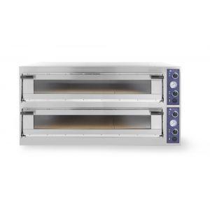 Cuptor profesional pizza Trays 66 L Glass 2 camere 20400 W interval de temperatura de la 50°C la 500°C 2x 1230x840x(H)175 mm, Hendi