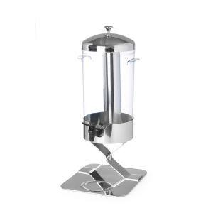 Dispenser suc 5 litri, cu sistem racire cu cuburi gheata, corp inox, cuva policarbonat, 28x22x(H)51 cm, Hendi