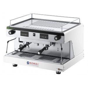 Espressor profesional Top Line BY WEGA 3700 W Alb 740x555x(H)515 mm control electronic programarea a pana la 4 cafele pe grup, Hendi
