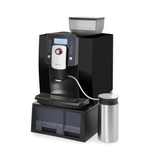 Espressor Profi Line, 1400 W, Panou digital, Rasnita incorporata, 750g, Program de curatare automata, Contor, Negru, Hendi