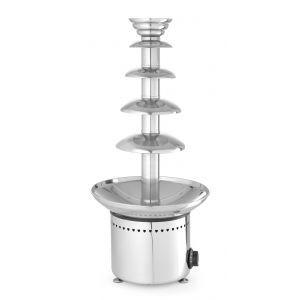 Fantana de ciocolata, 265 W, functie mentinere la cald pana la 110˚C Argintiu, capacitate maxima 6 Kg de ciocolata, Hendi