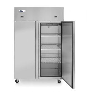 Frigider si congelator profesional Hendi Profi Line cu 2 usi 420+420 L 1200x745x(H)1950 mm otel inoxidabil -2/+8°C, -17˚/-22˚C 700 W 3 rafturi 510x525 mm incluse