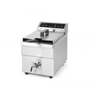 Friteuza cu inductie Hendi Kitchen Line, 8 lt, corp inox, 3500W, functie boost pentru incalzire rapida, 290x485x(H)406mm