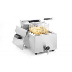 Friteuza electrica profesionala, 8 litri, cu robinet, 3500 W, termostat 0-190 gr C, inox18/10, cos inclus, Hendi Master Cook, 300x515x(h)345 mm
