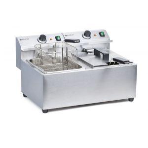 Friteuza electrica profesionala dubla 2x8 litri, inox, 2x3500W, Mastercook Hendi