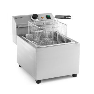 Friteuza electrica profesionala, Mastercook Hendi 8 lt, 3500W, temperatura reglabila pana la 195 gr C