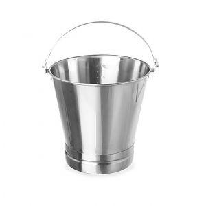 Galeata pentru bucatarie din inox, 15 litri, gradata, cu maner si baza consolidata, ø305x(H)310 mm, Hendi