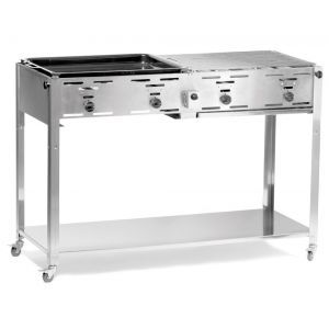 Grill - Master - model Quattro - otel inoxidabil, Hendi