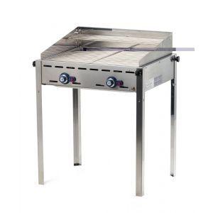 Grill barbecue - Green Fire - 2 arzatoare - alimentare gaz - tava fonta si gratar, Hendi