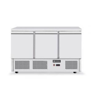 Masa frigorifica rece cu 3 usi, inox, ARKTIC by Hendi Kitchen Line, capacitate camera frig 380 lt, consum mediu/24h 4,5 kw