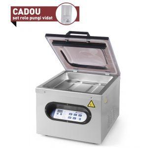 Masina ambalare vacuum cu camera Hendi Kitchen Line, 630 W, Argintiu/Negru
