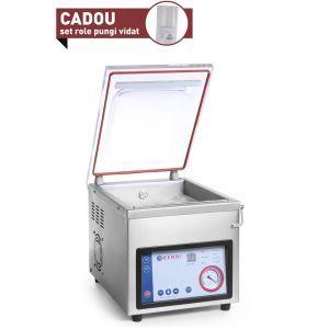 Masina ambalare vacuum cu camera Hendi Profi Line, 370 W, Banda sigilare 300mm, Argintiu